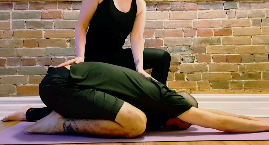 Assisted Yoga Pose