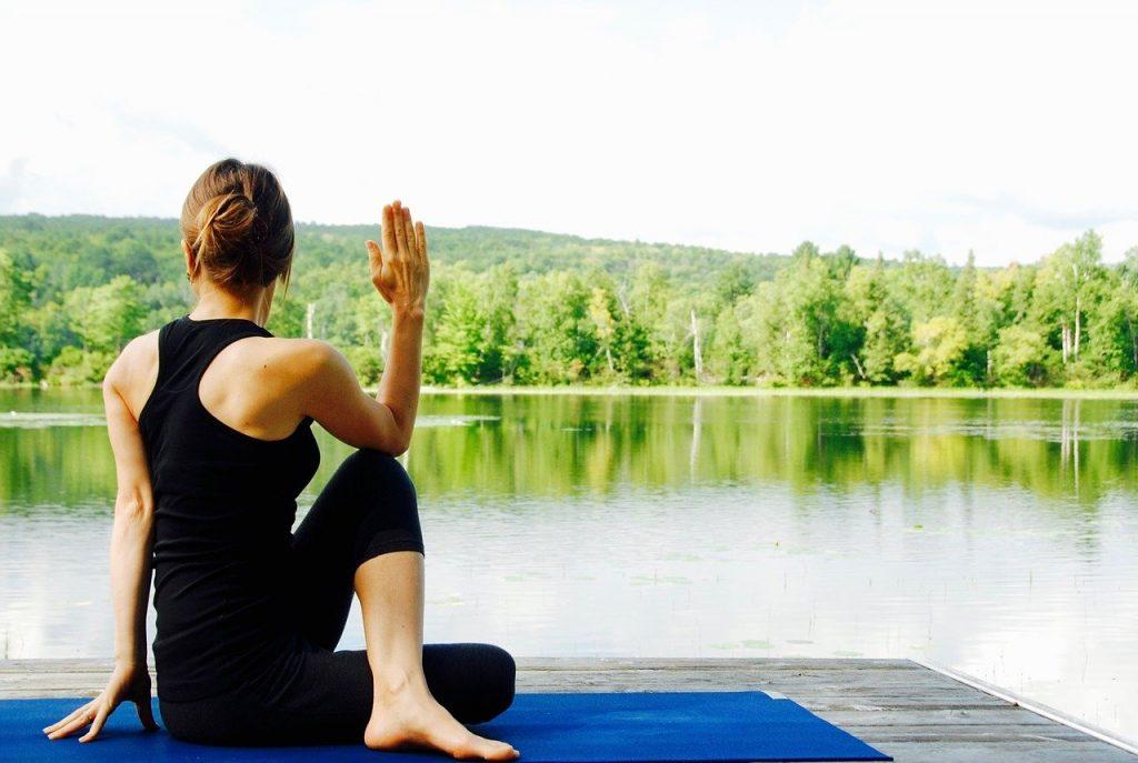 Yoga on a Dock