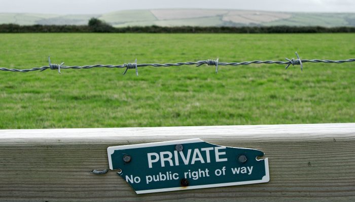 Fence indicating private property