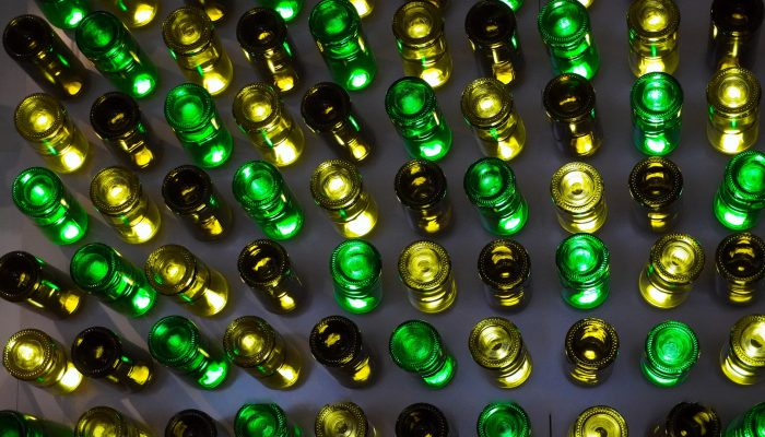 Wine Rack with many Bottles
